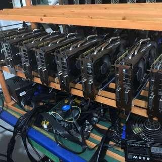 Ethereum mining rig (8 x GTX1070)