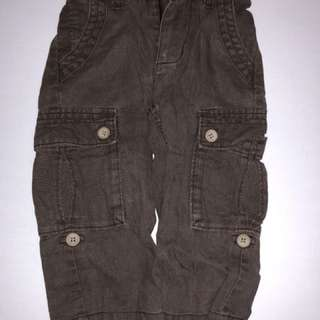 Brown old navy cargo pants 18-24 months