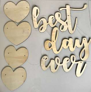 Best Day Ever wooden alphabets signage