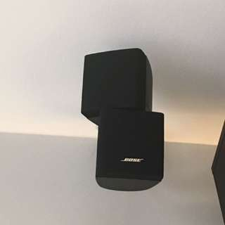 Bose speakers - 5 pairs with brackets and one pair of stand
