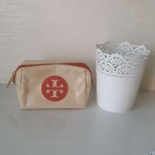 {Nothing above $3} Pre-loved Tory Burch cosmetic pouch