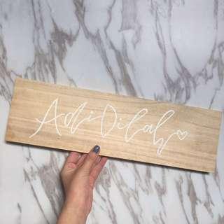 Handmade Customized Calligraphy Wood Board