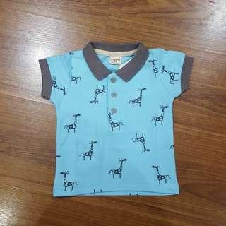 Bus Post Poloshirt (Giraffe print)