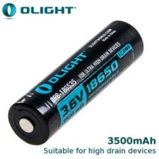 (3,500 mAh) Olight HDC High Discharge Rate 18650 Rechargeable Battery