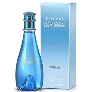 Authentic Davidoff Cool Water Woman (70%left)