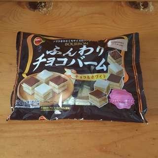 日本寶邦方形雙色朱古力千層蛋糕