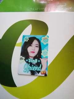 Yes card Gfriend Sinb 夜光卡