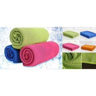 [防暑冰涼毛巾] 防暑必備! 專為炎熱夏日和運動中設計,防暑降揾效果,透氣、冰涼、吸水性強、易速乾,柔軟舒適