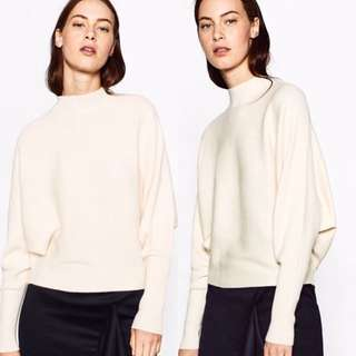 Zara batwing mock neck sweater