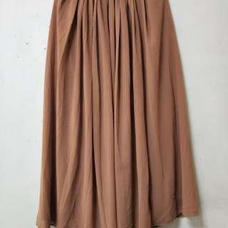 Maxi Tulle Pleated Skirt