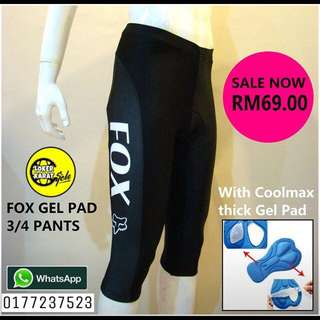 FOX 3/4 GEL PAD PANT MTB CYCLING BICYCLE