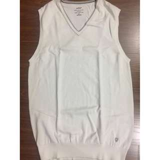 Celio mens casual white vest M