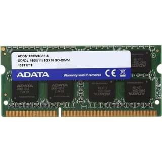 ADATA Premier 8GB 204-Pin SO-DIMM DDR3L 1600 Laptop RAM