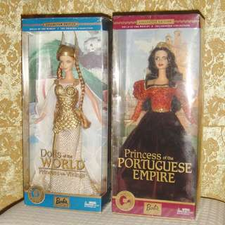 DOTW Princess of the Vikings & Portuguese Empire Barbie Dolls