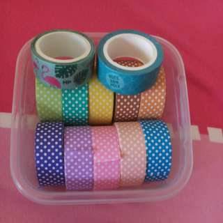 Polka dot washi tapes!!