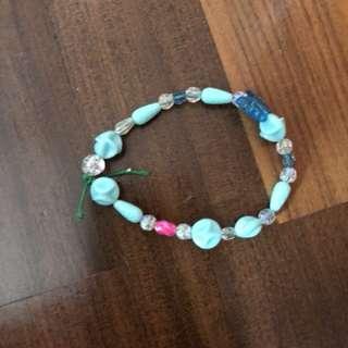 Handmade Blue Bead Bracelet
