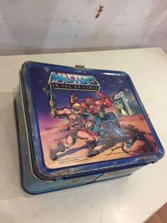 Vintage He-man lunch box with thermos