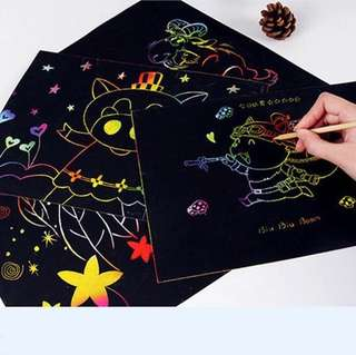 10 pieces per set magic drawing scratch art painting card