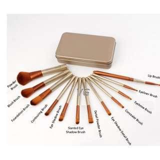 Best Price ! 12 Pcs Set of Make Up Brush Kits Tool