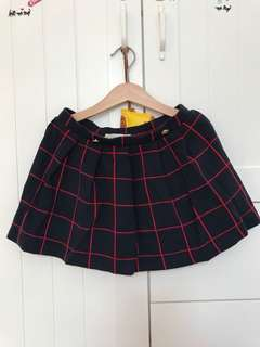 Used zara mini skirt blue sz 8, pj rok 28cm, lebar punggang 56cm, karet pinggangnya ya