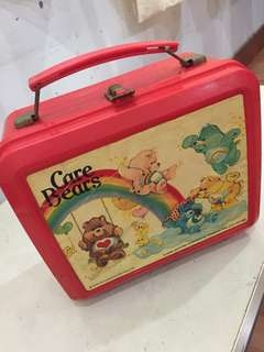 Vintage CareBear lunch box with thermos