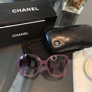 全新 Chanel sunglassess 紫色太陽眼鏡