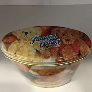 Famous Amos collectable can