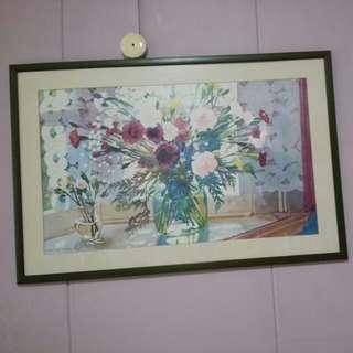 Flower artwork frame