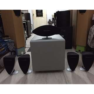 Mordaunt-Short Genie Series 5.1 Home Theater Speaker System (5 speakers + 1 subwoofer)!