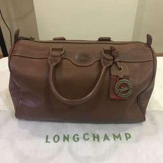 Authentic Longchamp leather boston bag