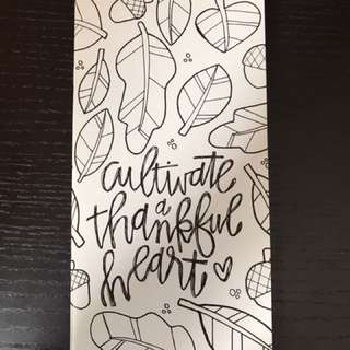 Illustrated Faith devotional booklet - cultivate a thankful heart
