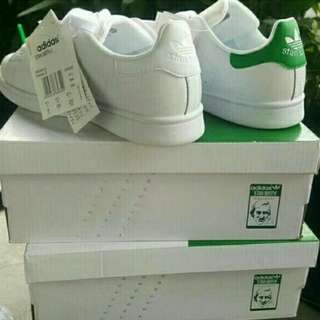 Adidas Stan smith Triple White and Green Tab(For men&women)
