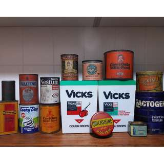 Vintage old tins for sale