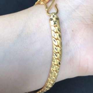 916 Gold/ 22K Pure Gold Bracelet