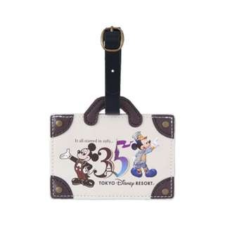 Tokyo Disneysea Disneyland Disney Resorts Sea Land 35th Anniversary Mickey Mouse Luggage Tag Preorder