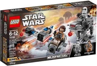 Lego 75195 ski speeder vs first order walker microfighters