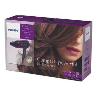 BNIB Phillips Compact Travel Hairdryer