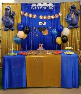 Backdrop Set Up - Cookie Monster