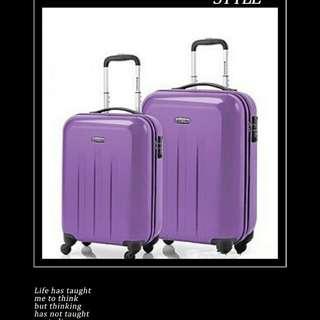 全新日本Hideo Wakamatsu Track 20吋及24吋套裝旅行箱 (紫色)