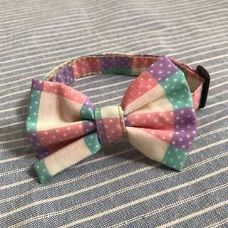 Handmade Colorful Bow Collar
