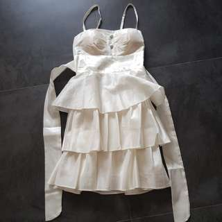 Baby doll white dress
