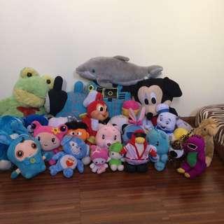 Take all 24 pcs Stuff Toys