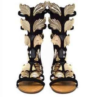 Angel Wings Gladiator Nubuck Sandals