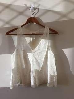 Seed white sleeveless top