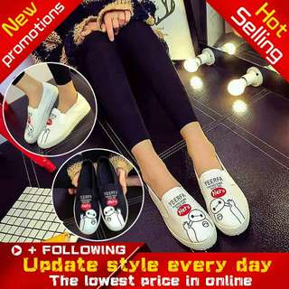 Loafer Slip-on Painted Athletic Shoes
