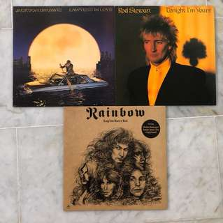 Used Vinyl LP's  (Rainbow / Rod Steward / Jackson Browne)