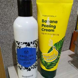 Take all body shop lotion & tonymoly