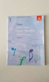 Grade 7 Piano Specimen Sight-Reading Tests by ABRSM Publishing