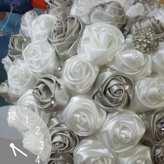 Satin ribbon bouquet