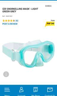 diving / snorkle mask / goggles